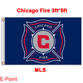 1 piece 144cm*96cm size MLS Chicago Fire Flying flag