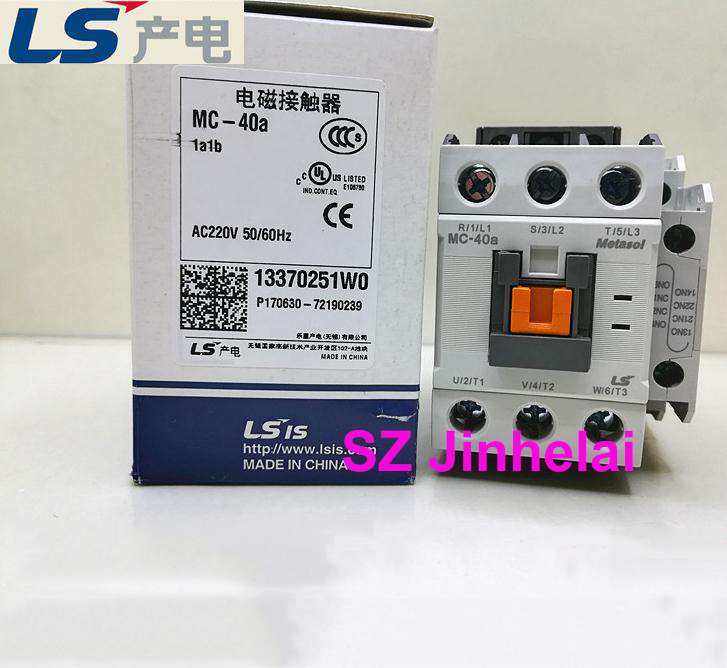 цена на Authentic original MC-40A LS Electromagnetic contactor 1a1b (Can replace GMC-40) DC220V/DC110V/DC24V/AC220V/AC110V/AC24V/AC380V