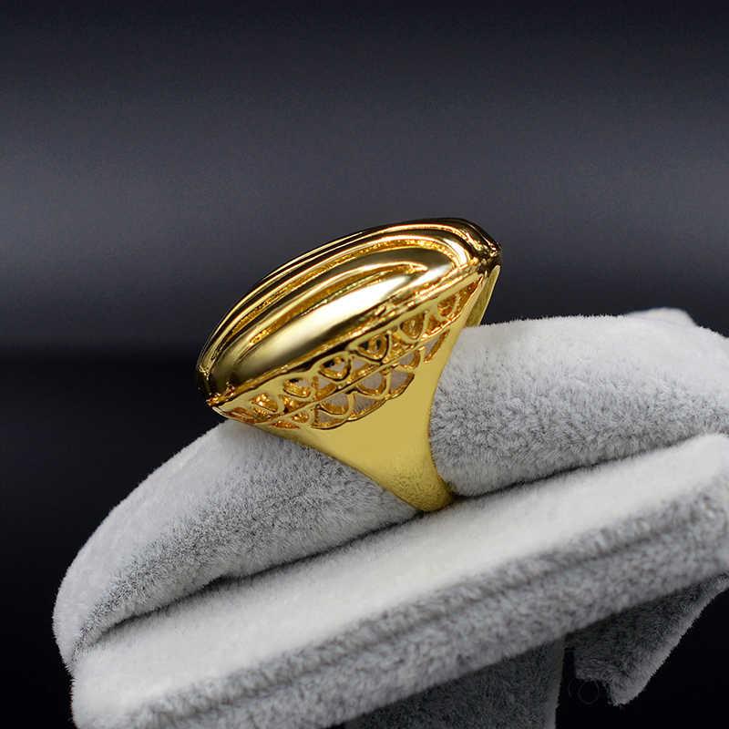 เครื่องประดับซันนี่ผู้หญิงใหญ่ค็อกเทลแหวนแฟชั่นคุณภาพสูงรอบ Hollow สำหรับงานแต่งงานครบรอบทุกวัน