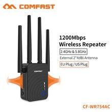 Comfast 1200 Мбит/с Беспроводной ретранслятор домашний Wifi удлинитель двухдиапазонный 2,4 & 5,8 ГГц Wifi антенна дальний усилитель сигнала CF-WR754AC