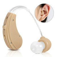 USB Rechargeable BTE Hearing Aid Adjustable Digital Hearing Amplifier Behind Ear Type Hearing Aid With 2 Color