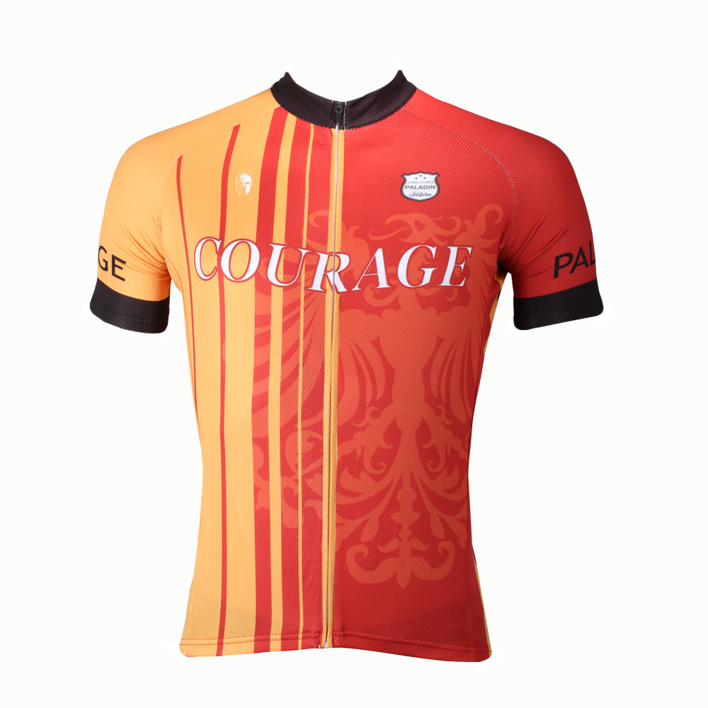 CYCLING JERSEYS New COURAGE Mens Cycling Jersey top Sleeve Fire Phoenix bike top 2016 Red Cycling Clothing Size S-6XL ILPALADIN 2016 new men s cycling jerseys top sleeve blue and white waves bicycle shirt white bike top breathable cycling top ilpaladin