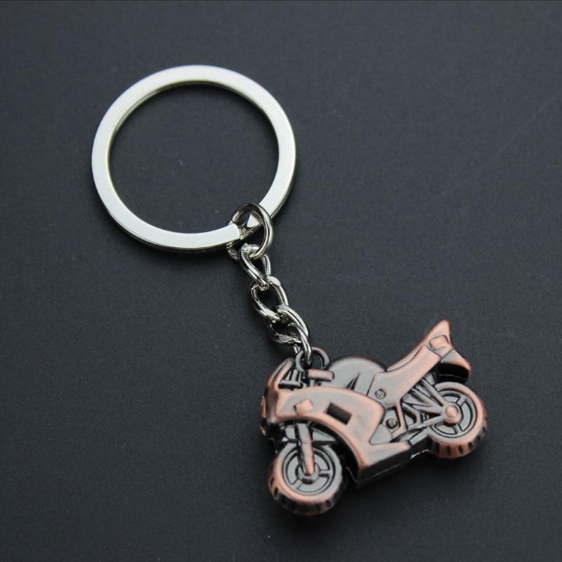3D Metal Model Motorcycle Keychain Mini Motor Pendant Keyring Men Accessorie Llavero Chaveiro Motorbike Jewelry