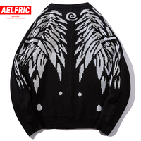 AELFRIC Knitted Sweater Men Batwing Sleeve Casual Streetwear 2018 Fashion Hip Hop Long Sleeve Pullover Harajuku Sweaters KA17