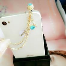 Earphone-Jack Embroidery Dust-Plug Long-Chain Huawei Xiaommi Diamond for Tassel Iron-Tower