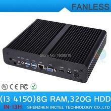 Мини-безвентиляторный Промышленный КОМПЬЮТЕР Облако Терминал i3 4150 с Intel Core i3 4150 3.5 ГГц HDMI VGA дисплей 8 Г RAM 320 Г HDD