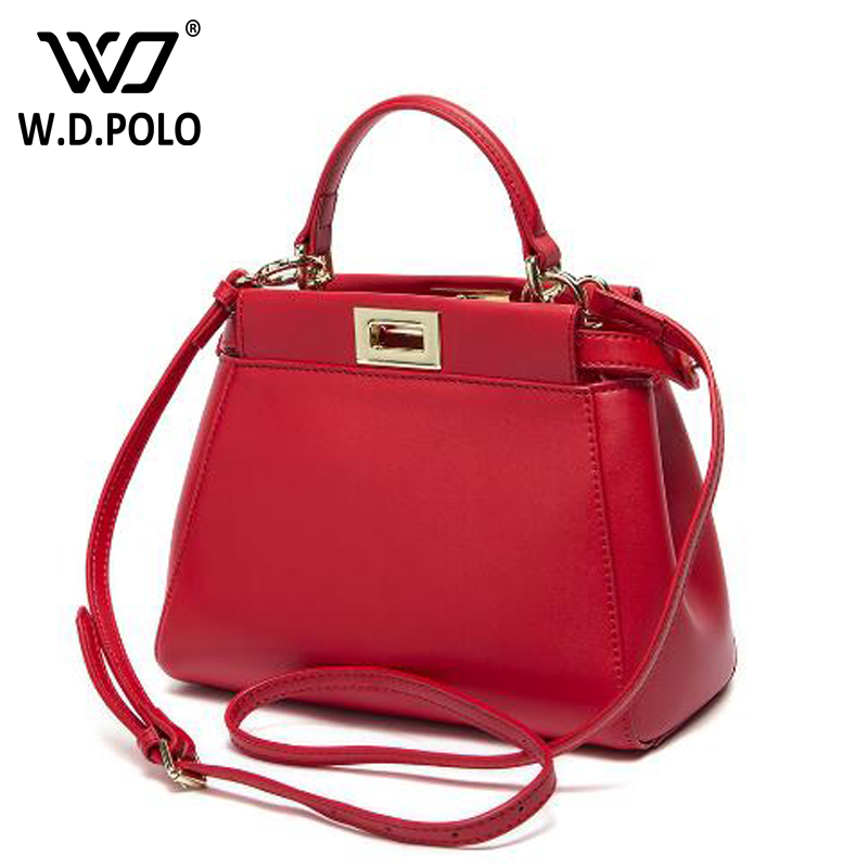 WDPOLO Genuine leather Pekabo mini women handbag new arrival popular lady necessary women bags chic fashion women shoulder bags new split leather snake skin pattern women trunker handbag high chic lady fashion modern shoulder bags madam seeks boutiquem2057