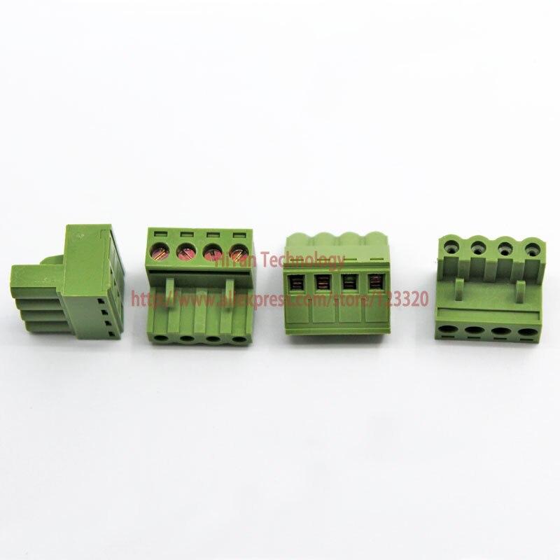 (20sets/lot) PCB Screw Terminal Block Connector KF2EDGK 4P and 90 Degree Pin Header pitch:5.08MM/0.2inch Green 10A 300V 4Pins