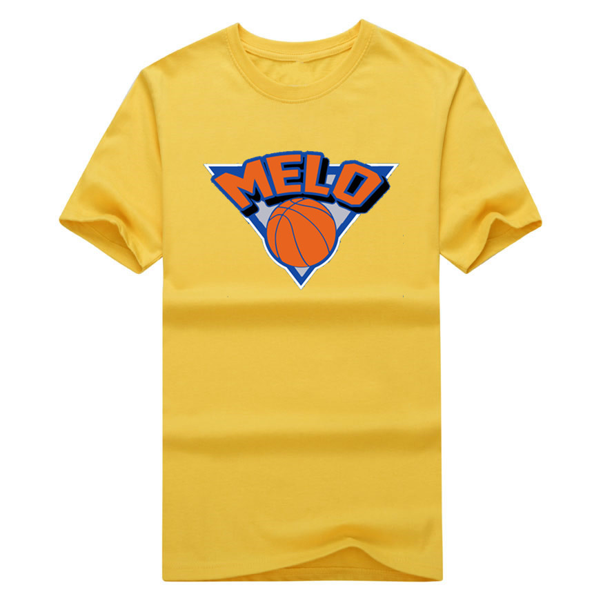 Carmelo Anthony 7 Melo Logo T-shirt 100% cotton short sleeve o-neck T shirt 1019-1
