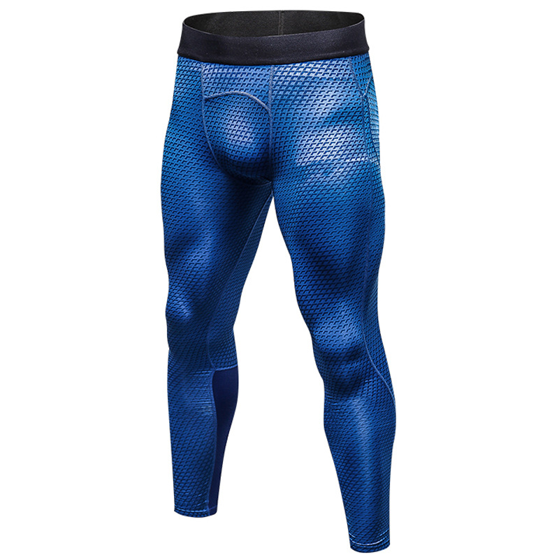 Men 3D Print PRO Fitness Bodybuilding Compression Pants Quick drying High Stretch Leggings Sportswear Crossfit Tights Long pants