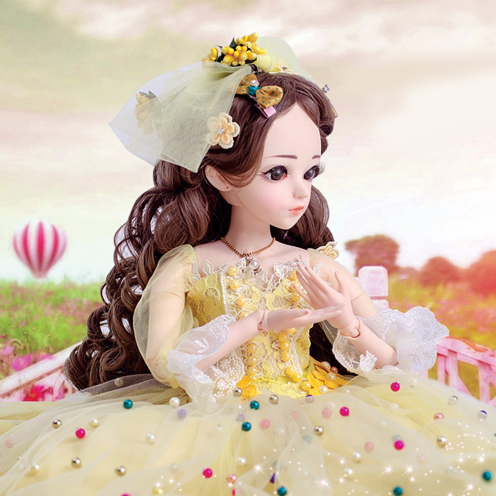 BJD 1 3 Dolls for Girl With Clothes Wigs Shoes Makeup 100 Handmade Beauty Toys Silicone