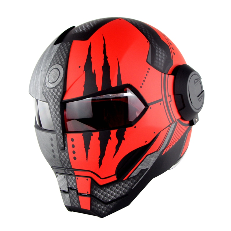 Newest Iron Man Motorcycle Helmet Casco Open Face Verspa Ironman Skull Style capacetes Soman 515 high quality dot approved brand masei 610 ironman motorcycle skull open face helmet casco capacete flip up motorcycle helmets