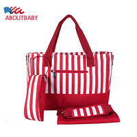 New Fashion Multifunctional Large Capacity High Quality Waterproof Maternity Mummy Nappy Bags Red