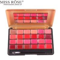 Miss Rose Brand 1pc 24 Color Matte Lipstick Palette Moisturizer Sexy Red Lips Makeup Palette Batons