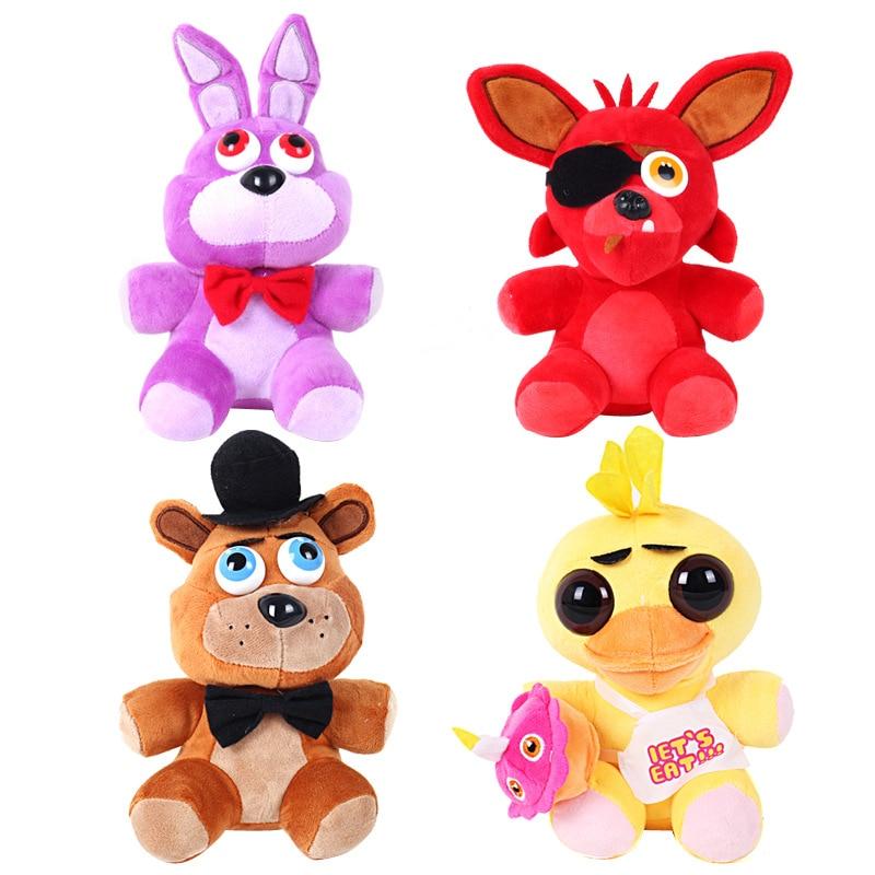 25cm Hot Sale Five Nights At Freddy's 4 FNAF Freddy Fazbear Bear Foxy Bonnie Chica Plush Toys Kid Children Dolls Christmas Gift