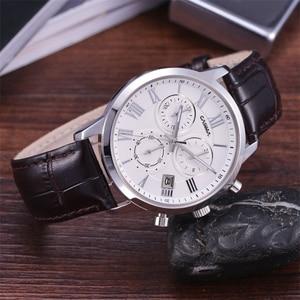Image 4 - Relogio Masculino CASIMA קוורץ שעון גברים למעלה מותג יוקרה שעון יד Mens לוח שנה שעון עור עסקי שעות Montre Homme
