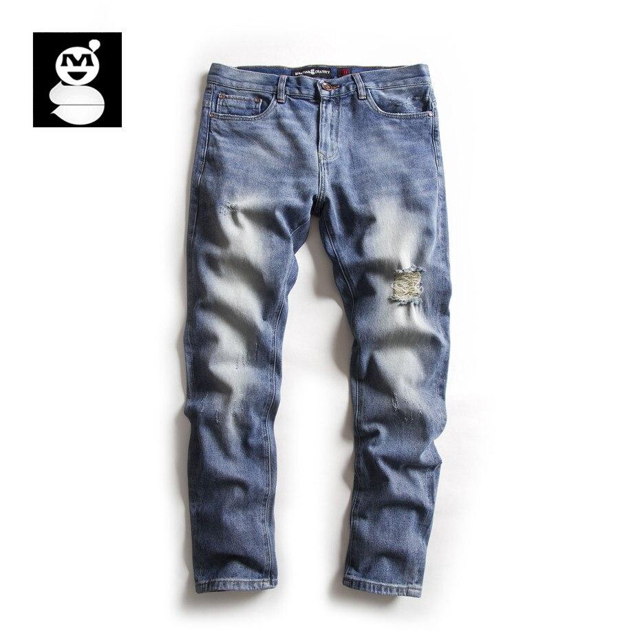 MARTIAN GRAVITY 2017 Summer Men's Casual Jeans Regular Denim Mens Pants With Zippers Men Cotton Trousers 2103 bradbury r martian chronicles