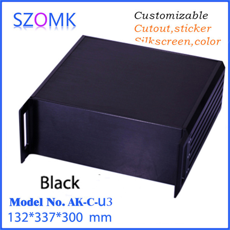 szomk electronics rack aluminum enclosure distribution project box (1 pcs) 132*337*300mm big size aluminum extrustion enclosure e cap aluminum 16v 22 2200uf electrolytic capacitors pack for diy project white 9 x 10 pcs