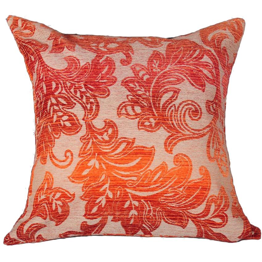 50x50 gradient lantern flower chenille jacquard decorative pillow