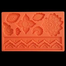 2019 New Mandala Flower Silicone Mold Designer DIY Stampi in Silicone Molde Silicone Concreto Molds for Plaster