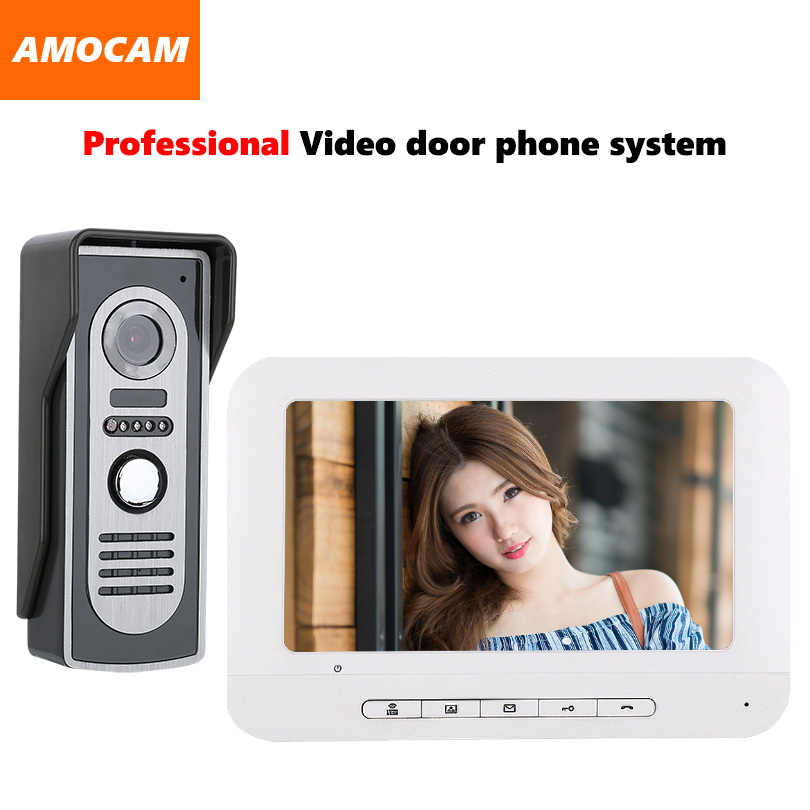 7 Monitor Video Doorbell Door Phone Kit IR Night Vision Aluminum Alloy Door Camera Video Intercom interphone system for villa 9 big monitor video door phone doorbell system video intercom ir night vision door alloy camera video doorphone ui interface page 6