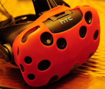 For HTC Vive Headset VR Silicone Case Cover VR Glasses Helmet Controller Handle Case Skin Shell VIRTUAL REALITY Accessories 3