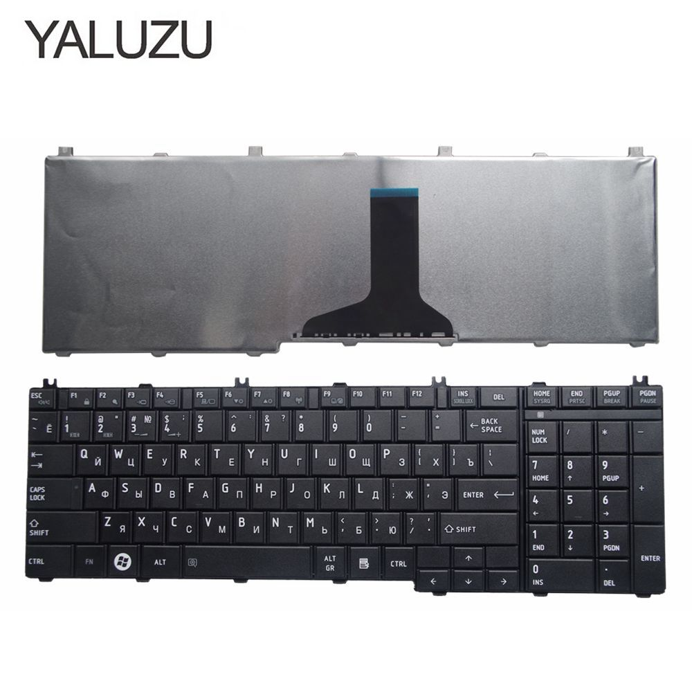 YALUZU Russian Laptop Keyboard For Toshiba Satellite C650 C655 C660 C670 L675 L750 L755 L670 L650 L655 L670 L770 L775 L775D RU
