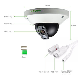 Image 3 - G.Craftsman Audio 5MP POE IP Camera Metal Dome Infrared Night Vision CCTV Video UHD Surveillance Security Elevator 5.0MP