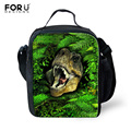 Fashion Children Lunch Bags 3D Dinosaur Printing Thermal Tote Bag Insulated Lunch Bags for Men Students Boys Travel Picnic Bags
