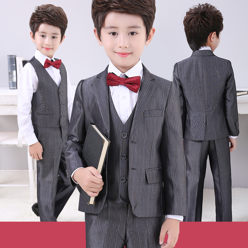 Фото New boys suits clothes formal for wedding kids tuxedo costume garcon mariage terno ninos trajes de boda child silver blazer boy