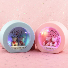 Lovers Little Bear Rotation Led Eight-tone box Decoration Night light Gifts for students children Children baby