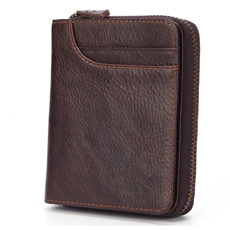 f77772a7c792 Новый кошелек мужской кожаный короткий двухслойный клатч из коровьей кожи  мульти-Карточный Кошелек для монет