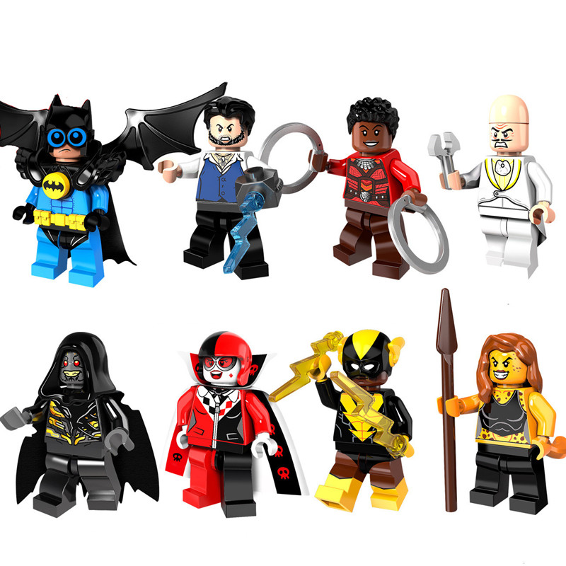 Blocks Justice Super Heros Toy Batman Mini Figures 4.5cm Building Blocks Compatible With LegoINGlys Toys Action Figures ABS