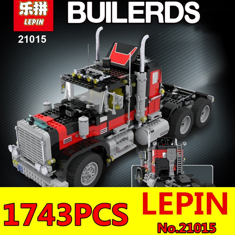 Creative Series LEPIN 21015 1743Pcs The American Black Cat Truck Set 5571 Educational Building Blocks Bricks Children Toys Gift
