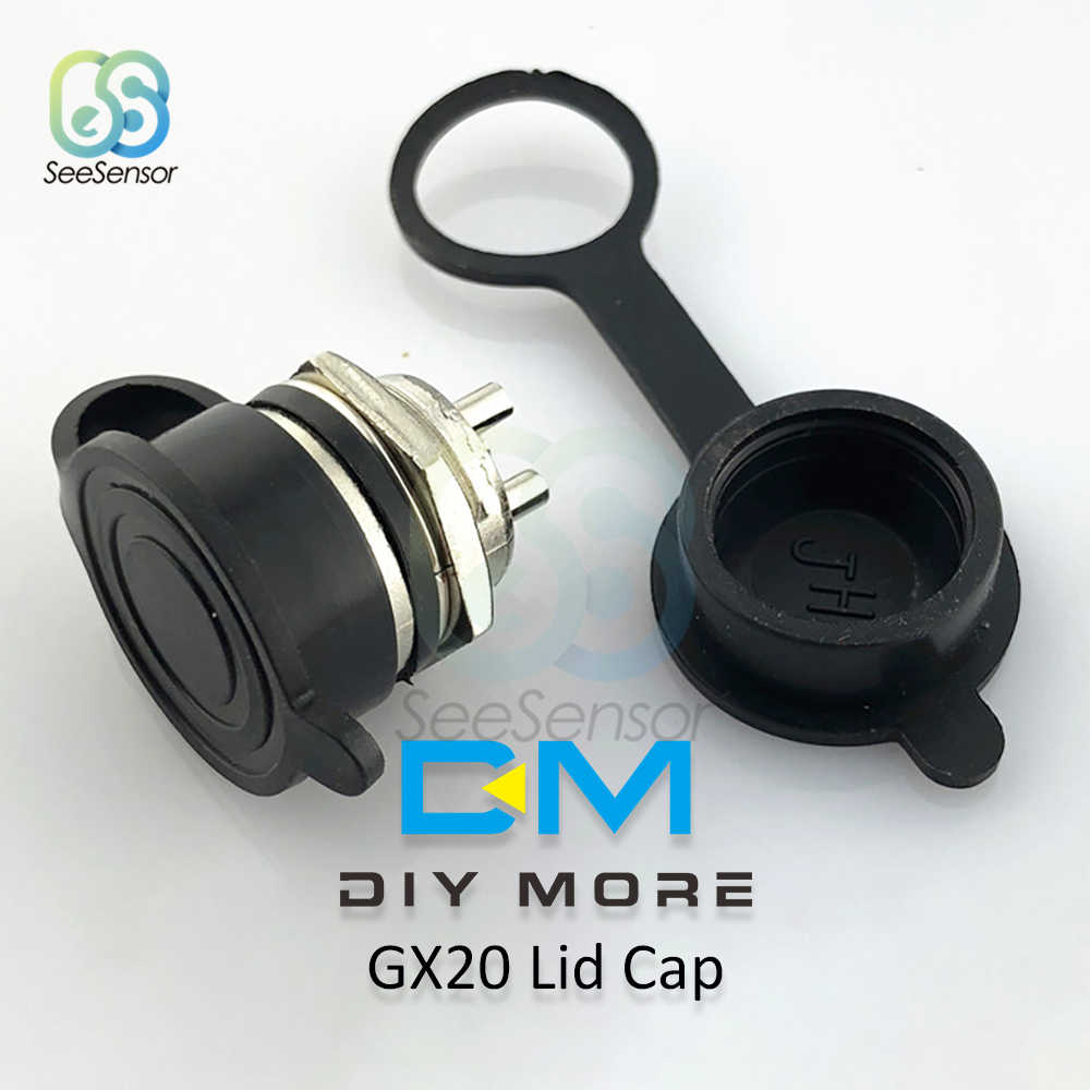 1 juego GX20 2/3/4/5/6/7/8/9/10/12/14/15 Pin macho + hembra 20mm L94-100Y Circular cable Panel aviación conector enchufe tapa