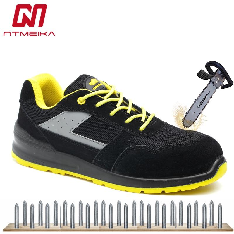 2019 Neue Ankunft Männer Arbeiten Schuhe Alle Jahreszeiten Komfortable Sicherheit Schuhe Für Männer Atmungsaktive Schutz Casual Sneaker Größe 35- 46 Hitze Und Durst Lindern.