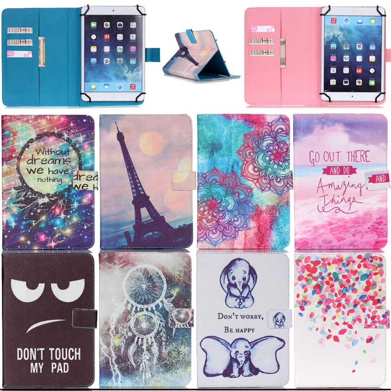 For BQ 1051G 3G Black 10 inch Universal Tablet Magnetic Print Wallet PU Leather Cover Case 10.1 inch Android bags Y5C53D планшет digma plane 1601 3g ps1060mg black