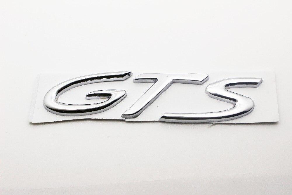 Gtsバッジメタルクローム車体テールゲートbootエンブレム用ポルシェカイエンgts