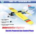 Frete grátis lutador interstellar linha de controle elétrico alimentado avião avião de brinquedo artesanal diy montado modelo presente das crianças