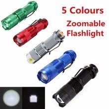 Мини-фонарик aa масштабируемые увеличить cree факел тактический фонарик батареи лампы вт