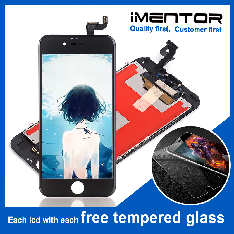 10pcs for AAA iphone 6s lcd 3d force replacement display Free Tempered Glass 10pcs