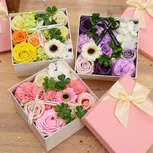 2019 Soft Simulation Petals Soap Flower Home Decoration Holiday Gift For Mothers day Rose Carnation Hydrangea