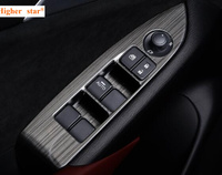 Higher Star Carbon Black Color 4pcs Car Door Internal Armrest Window Switch Decoration Cover Plate For