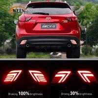 OKEEN 2PCS Car Styling Multi Function LED Rear Bumper Light For Mazda CX 5 CX5 2013