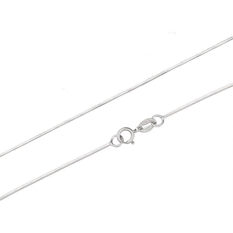Elva Dong 5sizes available 925 Sterling Silver Slim Round Snake Chain Necklaces Women Men Jewelry 35cm/40cm/45cm/50cm/60cm/80cm handbag