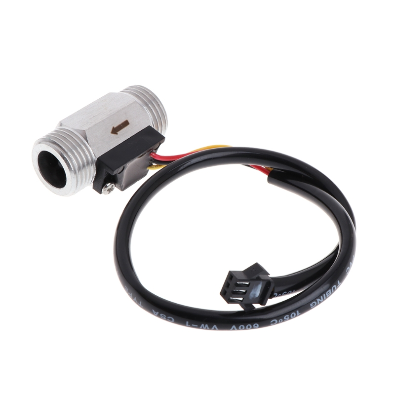 OOTDTY G12 OD20.5mm thread 1~30LMIN Hall effect water liquid Stainless steel flow sensor meter