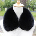 Brand Besty Women Real Fox Fur Collar With Eye-Hoods or Ribbon Closure In The Front Lady Trend Parka Fur Collars Cape