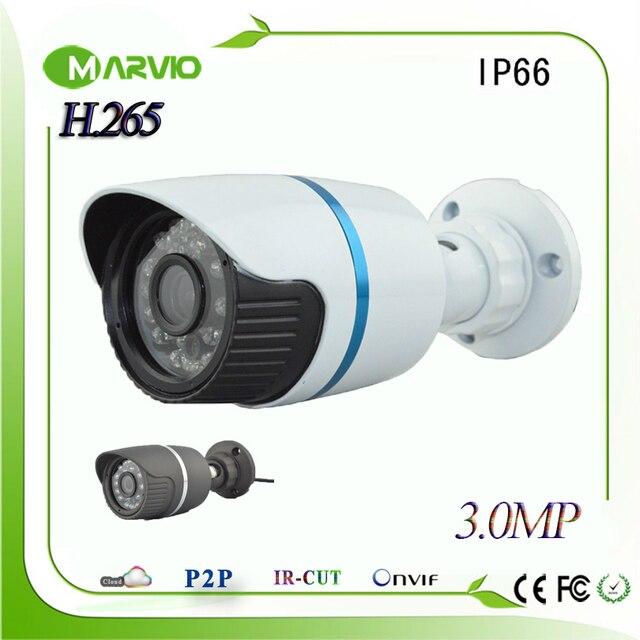 Новый H.265 3-МЕГАПИКСЕЛЬНОЙ HD Ip Пуля Камеры ВИДЕОНАБЛЮДЕНИЯ Системы Видеонаблюдения камеры ip cam, всепогодный IP66 Onvif