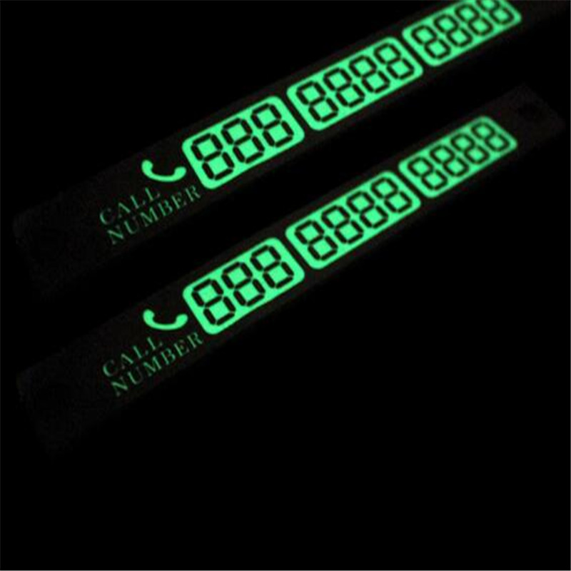Car Luminous Temporary Parking Card With Suckers And Phone Number Card For Lada Granta Seat Leon Renault  Polo Opel Insignia