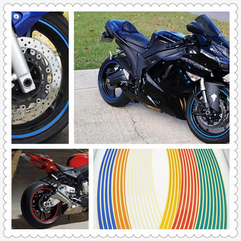 Strips Motorcycle Wheel Sticker Reflective Decals Rim Tape Bike Car Styling For SUZUKI BANDIT GSF1250 KTM Bajaj PulsaR 200 image
